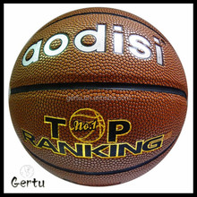custom logo size 5 pu leather basketball for students