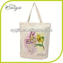 customized square bottom cotton shopping bag