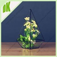 2015 new fashionable hot sale home decoration customzied glass planter garden copper fish shape flower pot