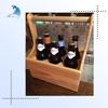 Custom Logo 6 Bottle Wooden Wine/Beer Carrier,Wooden Holder Tote Accept OEM