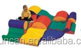Alta calidad de los cabritos del bebé softplay juego climb seguro de la combinación zona infantil de juegos divertidos softplay para el bebé