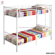 Cheap School Student Dormitory Single Size Metal Frame Bunk Bed