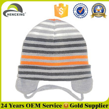 Custom earflaps knitted hat wholesale