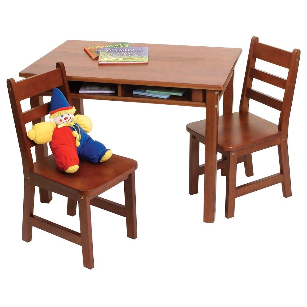 Childrens rectangular table and chair set buy solid wood for Table and chair set