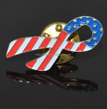 American Flag Ribbon Pin Brooch Lapel Tie Purse Pin Patriotic