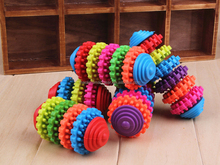 Wholesale Colorful Gear Pet Chew Toy Funny Dog Chew Toy PT048
