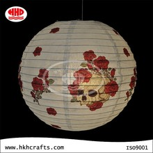 Rose and skull design foldable paper lantern, paper lamp