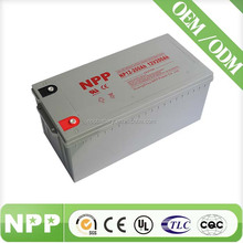 Guangzhou factory 12v200ah deep cycle battery in China