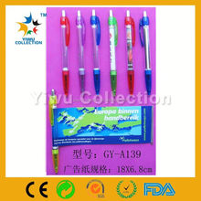 mini ball pen,advertising pull paper pen,banner printer ballpoint pen