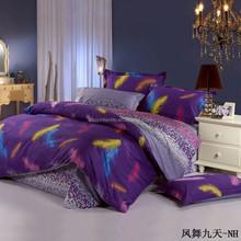 printed cotton bed sheet cover linen duvet cover set bedding set wholesale manufacturer BE-023