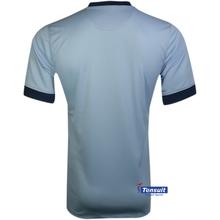 2014/15 New models for uniform shirts ,100 polyester fiber shirt ,thailand quality black orange soccer jersey wholesale