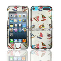 for ipod touch 5 case, mini boat case for ipod touch 5, high quality PC case with factory price