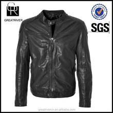 China Factory Clothing Custom Made Men Leather Jacket