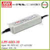 Meanwell LPF-60D-30 waterproof electronic led driver 30v 2a