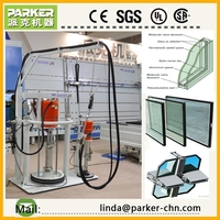 glass silicone sealant extruding machine / insulating glass sealing machine