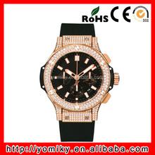 Wholesale top brand luxury rose gold women diamond watch