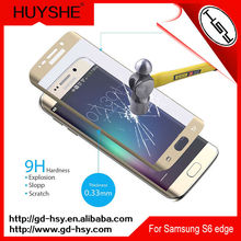 HUYSHE 3d curved otao curved tempered glass screen protector for samsung s6 edge
