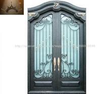 forjado puerta de entrada de hierro