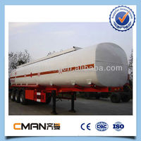 China 3 axle 40000 litre small fuel tank trailer for oil petroleum fuel transportation