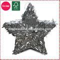 Folha de papel 3d cinco- pontas estrela prateada pinata aniversário para/natal decoração do partido