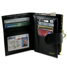 2015 New style genuine leather wallet men Hot sale bifold mens wallet Factory supplier of leather wallet men