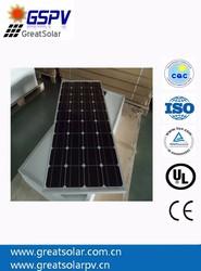 Monocrystalline solar panels 100W 24V, large quantity sold to India, Pakistan, Phillipines, Chile, Mexico, Brazil