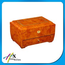 Luxury Marble Inlay Jewelry Box with Drawer