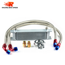 wholesale universal racing car row 10 auto aluminum oil cooler radiator,oil cooler kit