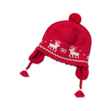 DB3134 dave bella 2015 winter Christmas wool cotton babi caps baby hat for girl