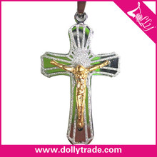 Customized Gold Jesus Cross Pendant