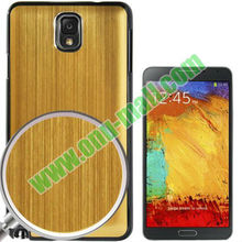 Metal Brushed Hair Paste Case for Samsung Galaxy Note 3 III / N9000