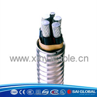 Anti-flame halogen free aluminum alloy royal electric cable