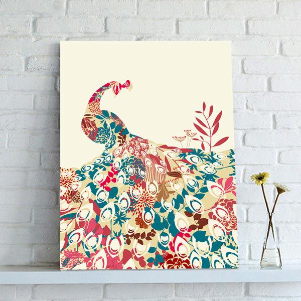 공작 동물 팝업 추상 캔버스 벽 예술-그림 & 서예 -상품 ID ...