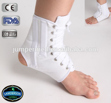AN-501 White canvas lace up ankle brace/ankle support
