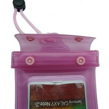Eco-friendly 0.30mm PVC 6 inch Waterproof Case I5/5S/5C/I4/4S with Zip lock and Velcro Strap