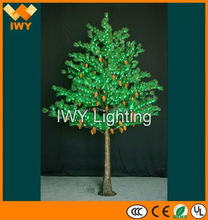 Factory Wholesale H350cm Green Christmas LED Lighting With 1008 LEDs