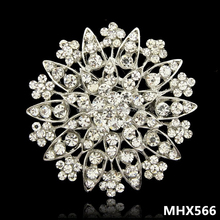 MHX566 Wholesale fashion crystal rhinestone muslim scarf brooches pins