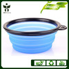 collapsile travel bowl pet bowl adjustable dog bowl various colors