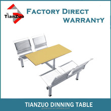 High quality fast food dinning table with stainless steel chairs WL300-02