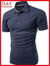 Navy stylish design polo t shirt with nice short sleeve for men