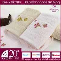 Sandy newest 100% cotton flower embroidered small face towel