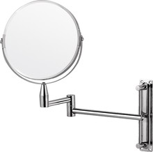 Hotel style double side wall mount magnifying shaving mirror