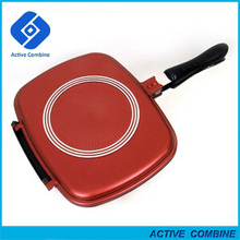 New Korea Style Die-Cast Aluminum Non-Stick Double Sided Grill Pressure Frying Pan 28/30/32cm