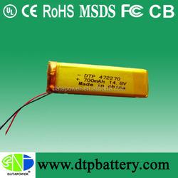 Rechargeable rc lipo battery 12.8v li-ion battery for minitor 700mah