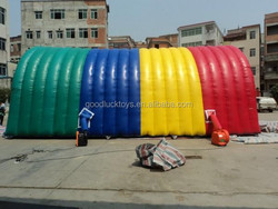 Durable Rainbow Tourist Inflatable Backyard Party Tent Oxford Cloth