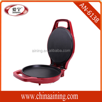 Auto Thermostat Control Pizza Maker With Bakelite Housing and Die Casting Aluminium Alloy Plate