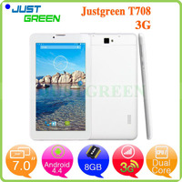 Dropshipping Cheap Tablet PC T708 MTK8312 2500 mAh WCDMA/GSM 3g call tablet