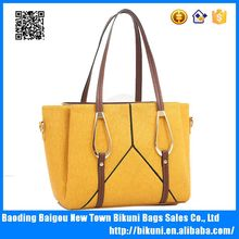 Wholesale cheap large pu shoulder bags women handbag with tote