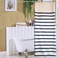 Bleu et blanc rayé Type Polyesyer de bain rideau de douche