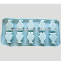 Silicone penguin shaped chocolate ice cube tray mold Christmas gift